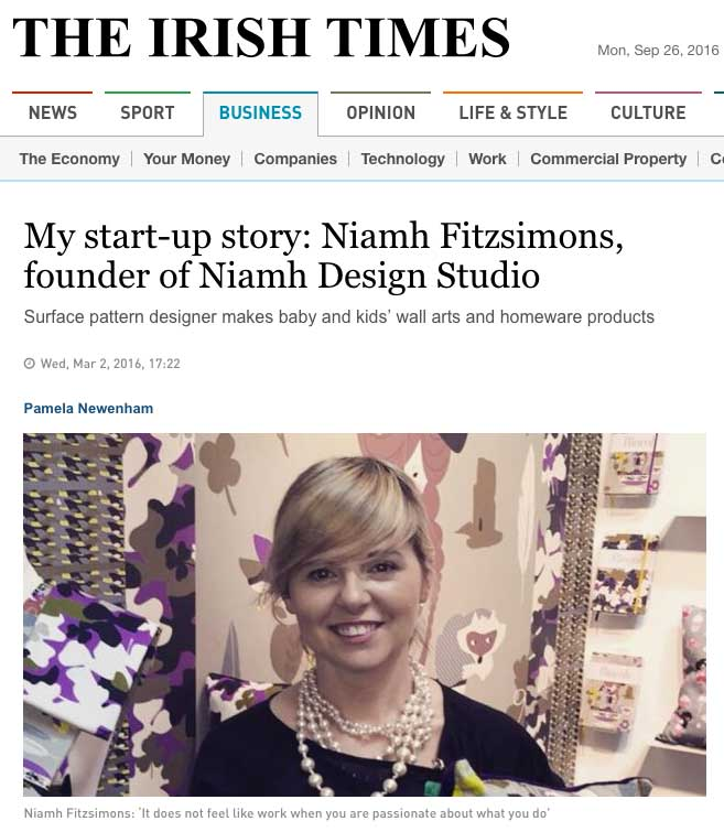 Niamh Fitzpatrick in the Irish Times
